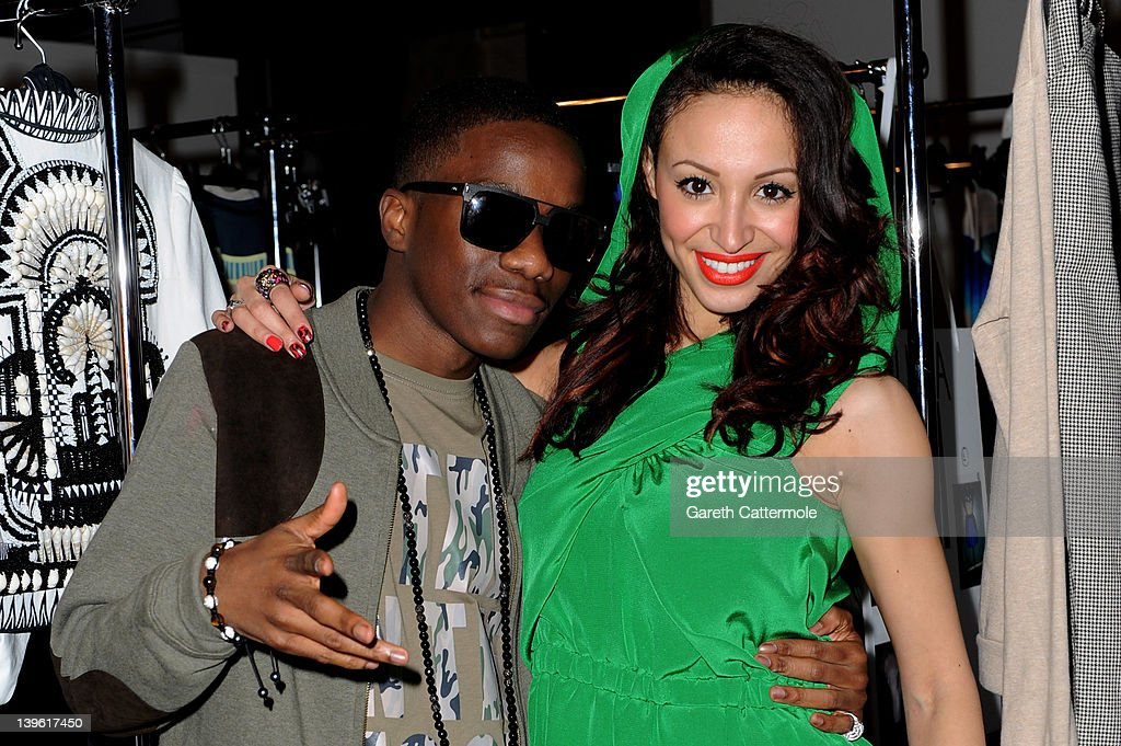 Vodafone London Fashion Weekend Launch Show With Artist Tinchy Stryder And Amelle Berrabah At Somerset House