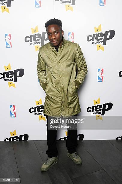 Tinchy Stryder attends the launch event for NBA teambranded Crep Protect spray cans at The View from The Shard on November 23 2015 in London England