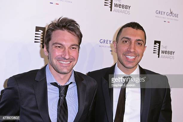 Tinder Cofounders Jonathan Badeen and Sean Rad attend GREY GOOSE Vodka hosts The 19th Annual Webby Awards on May 18 2015 in New York City