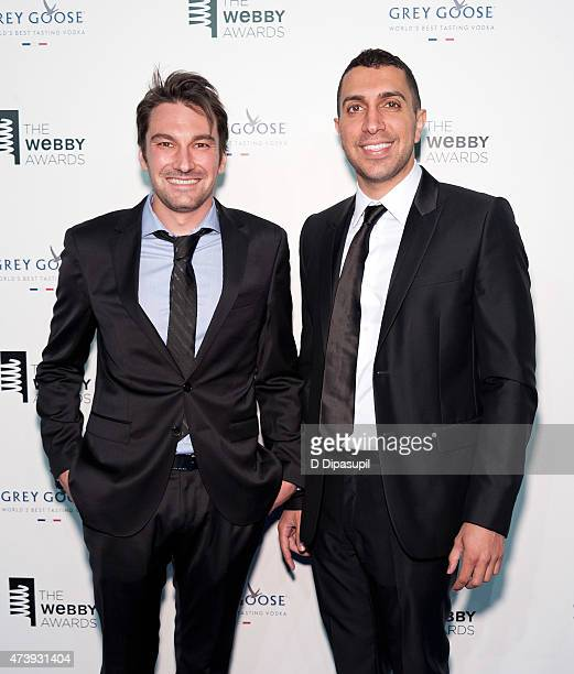Tinder cofounders Jonathan Badeen and Sean Rad attend the 19th Annual Webby Awards at Cipriani Wall Street on May 18 2015 in New York City