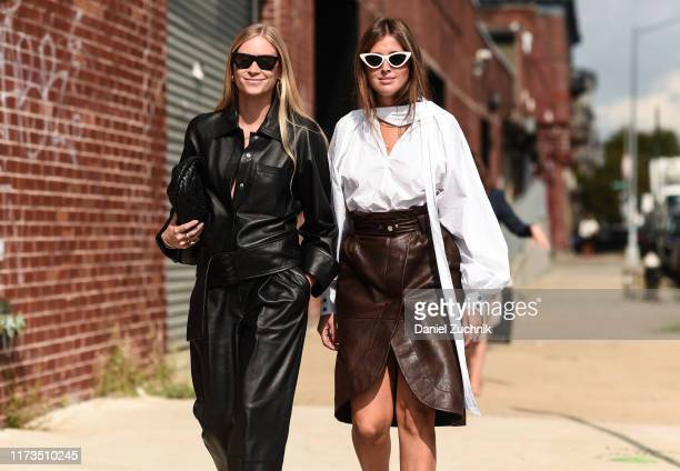 Tine Andrea and Darja Barannik are seen outside the Phillip Lim show during New York Fashion Week S/S20 on September 09, 2019 in Brooklyn, New York.