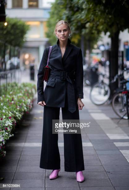 Tine Andrea outside Rodebjer on August 30 2017 in Stockholm Sweden