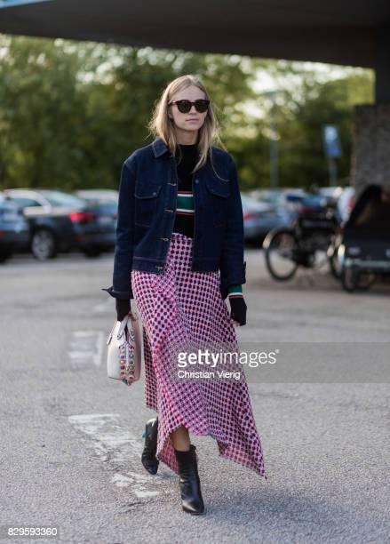 Tine Andrea outside Saks Potts on August 10 2017 in Copenhagen Denmark
