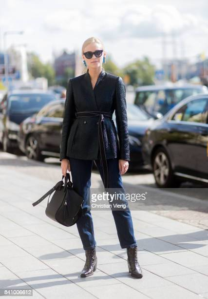 Tine Andrea outside Whyred on August 30 2017 in Stockholm Sweden