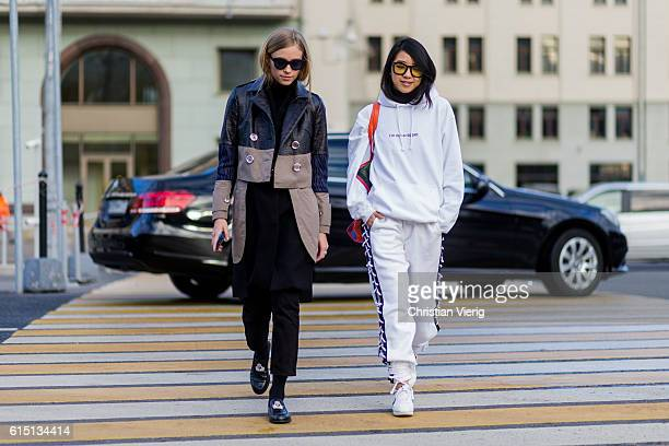 Tine Andrea wearing Saint Tokyo and Yuwei Zhangzou on October 16 2016 in Moscow Russia
