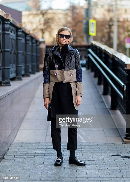 Tine Andrea wearing Saint Tokyo on October 16 2016 in Moscow Russia