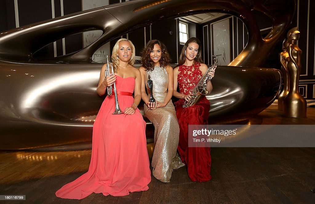 Tine Thing Helseth, Myleene Klass and Amy Dickson attend a photocall to launch the 2013 Classic Brit Awards at Home House on September 9, 2013 in London, England. The Classical Brits takes place on October 2, 2013 and is presented by Klass for the sixth year running.