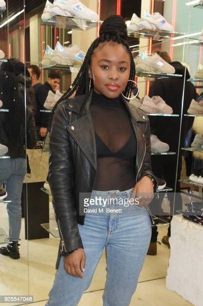 Tinea Taylor attends the What We Wear x Axel Arigato pop up shop launch party on February 28 2018 in London England