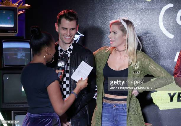 Tinea Taylor interviews Mike Tompkins and Andie Case during the MTV EMAs 2017 Breaks Sessions on November 11 2017 in London England