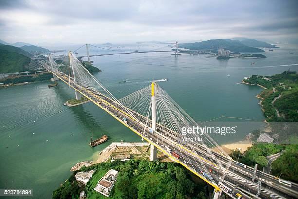 Ting Kau Bridge Crossing Channel