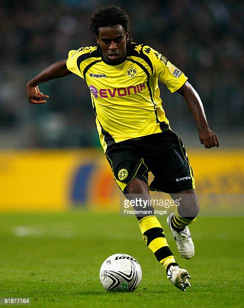 Tinga of Dortmund in action during the Bundesliga match between Borussia Moenchengladbach and Borussia Dortmund at Borussia Park Stadium on October 3...