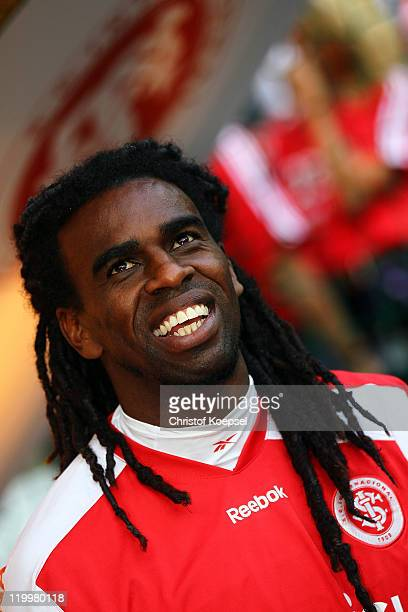 Tinga of Porto Alegre looks on prior to the Audi Cup third place match between AC Milan and International De Porto Alegre at Allianz Arena on July 27...