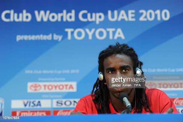 Tinga of Sport Club Internacional answers questions from the media during a press conference at Zayed Sports City on December 17 2010 in Abu Dhabi...