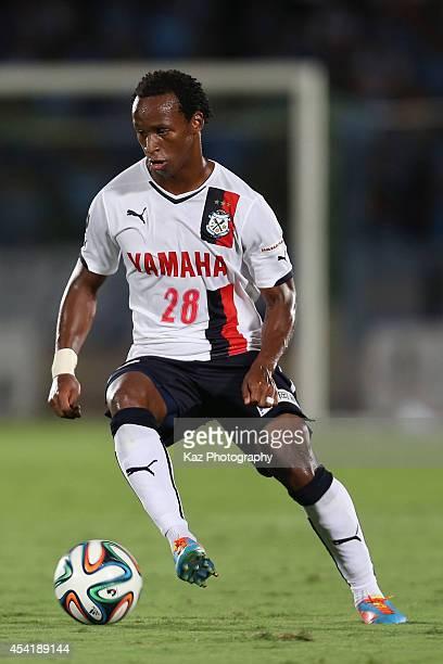 Tinga whose real name is Luiz Otavio Santos de Araujo of Jubilo Iwata in action during the J League second division match between Shonan Bellmare and...
