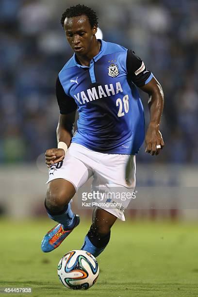 Tinga whose real name is Luiz Otavio Santos de Araujo of Jubilo Iwata in action during the JLeague second division match between Jubilo Iwata and...
