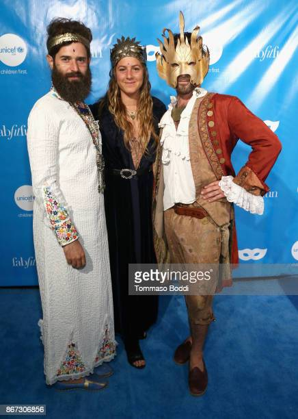 Tini Courtney and guests at the UNICEF Next Generation Masquerade Ball at Clifton's Republic on October 27 2017 in Los Angeles California