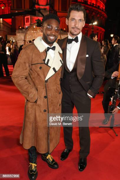 Tinie Tempah and David Gandy attend The Fashion Awards 2017 in partnership with Swarovski at Royal Albert Hall on December 4 2017 in London England