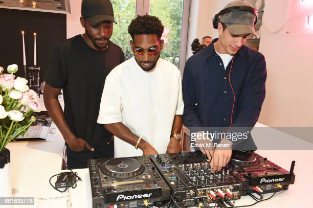 Tinie Tempah and DJs Audio Coming Soon attend the Clos19 launch dinner on May 10 2017 in London England