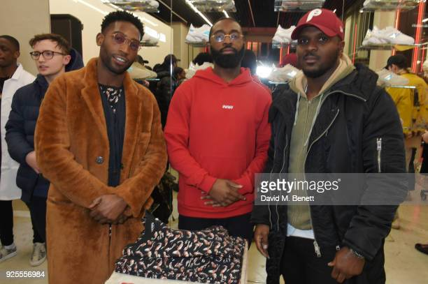 Tinie Tempah and guests attend the What We Wear x Axel Arigato pop up shop launch party on February 28 2018 in London England
