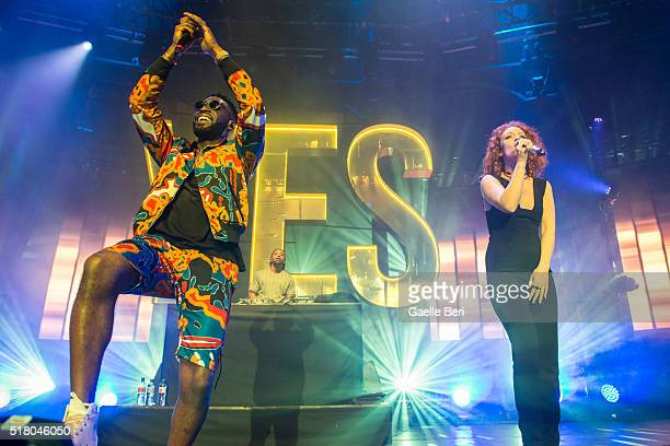 Tinie Tempah and Jess Glynne perform live at The Roundhouse on March 29, 2016 in London, England.