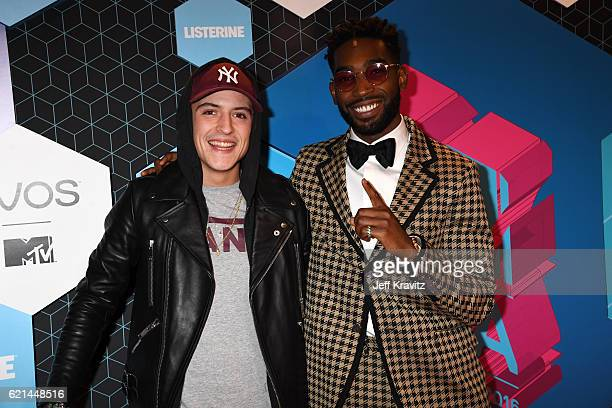 Tinie Tempah and Lil Kleine attend the MTV Europe Music Awards 2016 on November 6 2016 in Rotterdam Netherlands