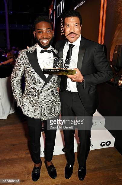 Tinie Tempah and Lionel Richie winner of the Icon of the Year award attend the GQ Men Of The Year Awards at The Royal Opera House on September 8 2015...