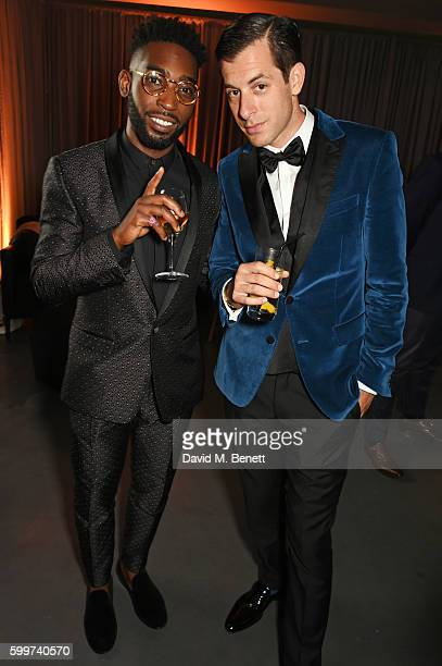 Tinie Tempah and Mark Ronson attend the GQ Men Of The Year Awards 2016 after party at the Tate Modern on September 6 2016 in London England