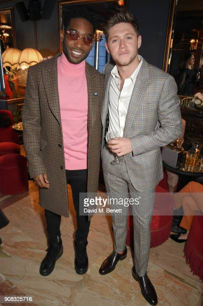 Tinie Tempah and Niall Horan wearing Paul Smith attend the Paul Smith Malgosia Bela AW18 Lunch on January 21 2018 in Paris France