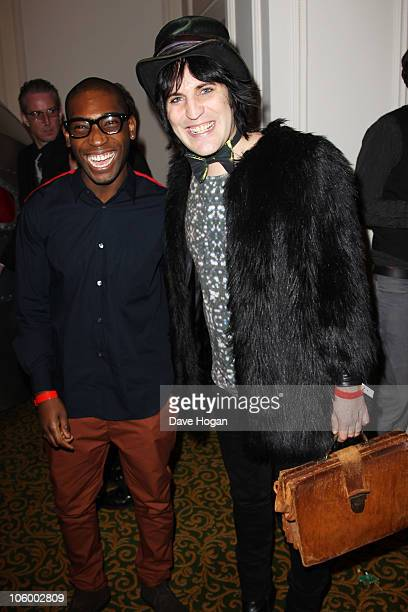 Tinie Tempah and Noel Fielding arrive at the Q Awards 2010 held at The Grosvenor House Hotel on October 25 2010 in London England