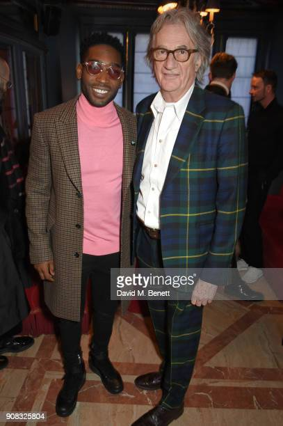 Tinie Tempah and Paul Smith attend the Paul Smith Malgosia Bela AW18 Lunch on January 21 2018 in Paris France