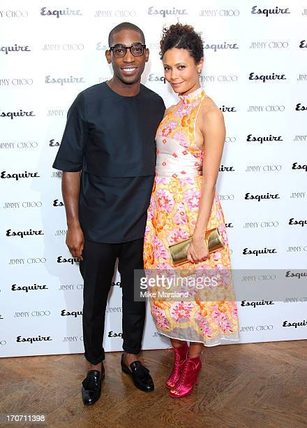 Tinie Tempah and Thandie Newton attend a party hosted by Jimmy Choo & Esquire during the London Collections SS14 on June 16, 2013 in London, England.