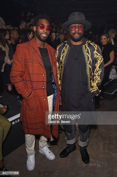 Tinie Tempah and william attends the VERSUS show during the London Fashion Week February 2017 collections on February 18 2017 in London England