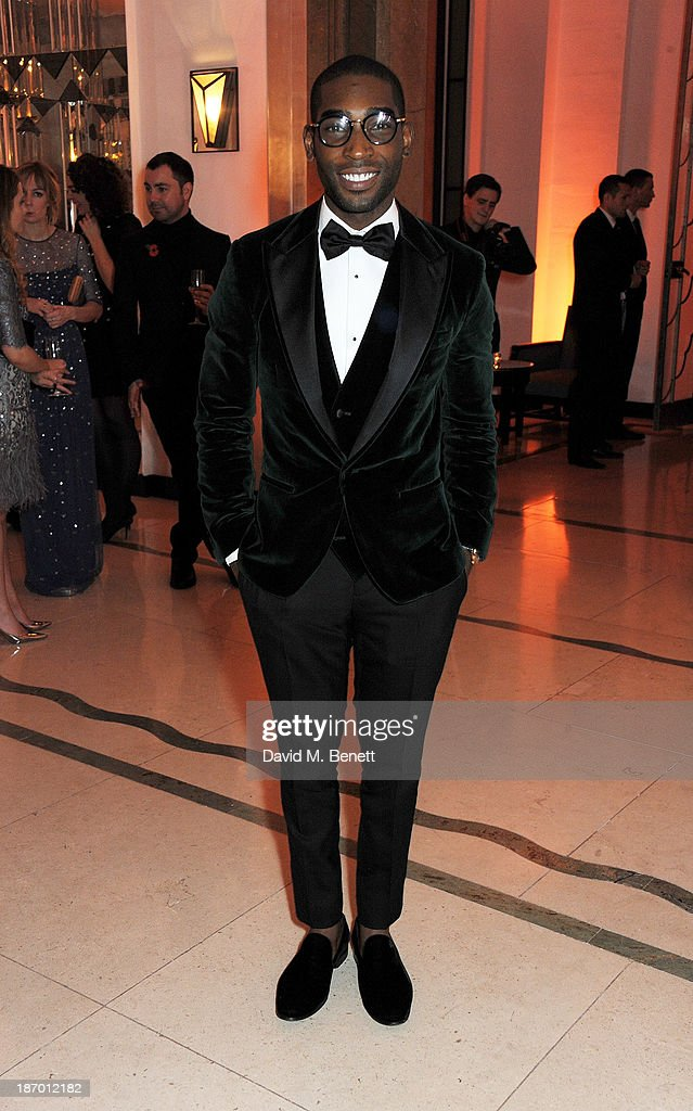 Tinie Tempah arrives at the Harper's Bazaar Women of the Year awards at Claridge's Hotel on November 5, 2013 in London, England.