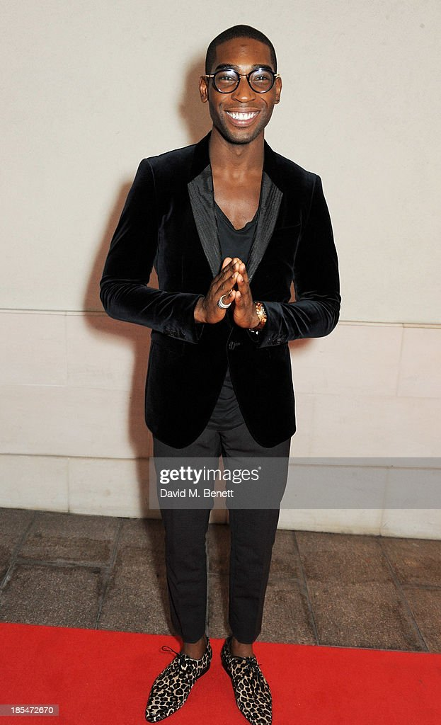 Tinie Tempah arrives at The Q Awards at The Grosvenor House Hotel on October 21, 2013 in London, England.