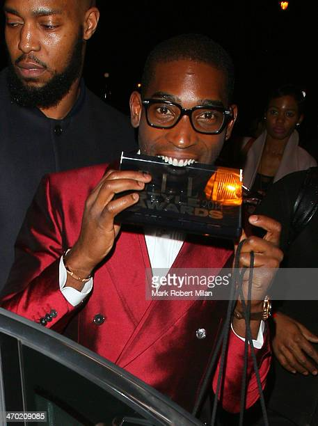 Tinie Tempah attending the Elle Style Awards ceremony at One Embankment on February 18, 2014 in London, England.