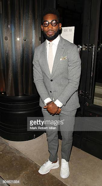 Tinie Tempah attending the GQ Closing Dinner London Collections Men Autumn Winter 2016 on January 11 2016 in London England