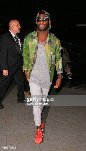 Tinie Tempah attending the Stealing Banksy VIP event at the ME Hotel on April 24 2014 in London England