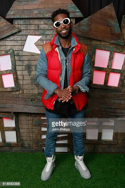Tinie Tempah attends a drinks reception at the Kiss FM Haunted House Party at SSE Arena on October 27 2016 in London England