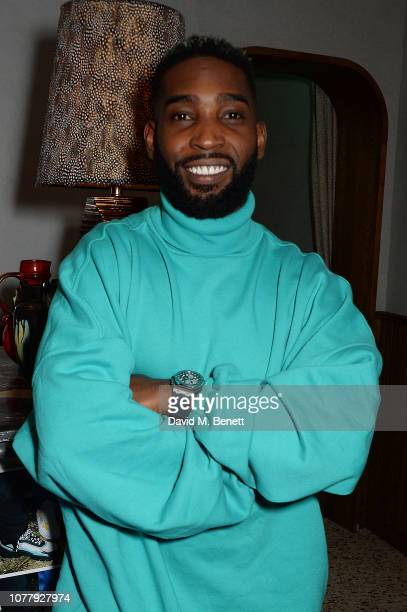 Tinie Tempah attends a VIP dinner celebrating the What We Wear x Filling Pieces sneaker collaboration during London Fashion Week Men's January 2019...