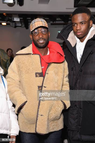 Tinie Tempah attends the A-COLD-WALL show during London Fashion Week Men's January 2018 at BFC Show Space on January 8, 2018 in London, England.