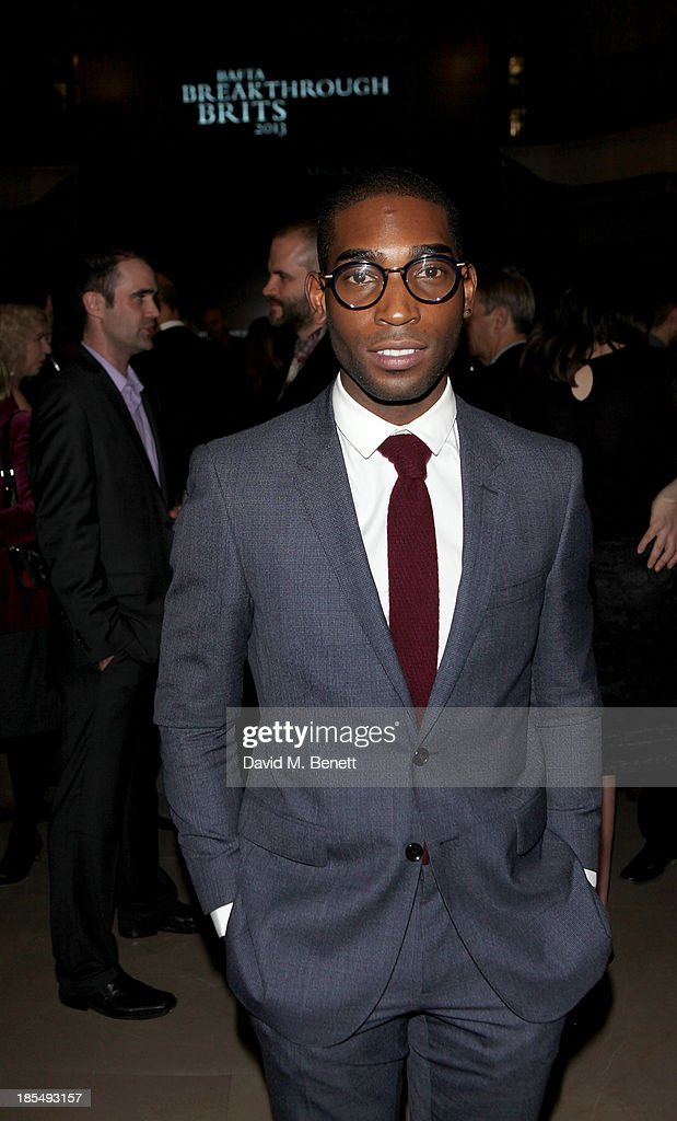 Tinie Tempah attends the BAFTA 'Breakthrough Brits' event at Burberry 121 Regent Street, London on October 21, 2013 in London, United Kingdom.