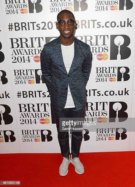 Tinie Tempah attends the BRIT awards nominations at ITV Studios on January 9 2014 in London England