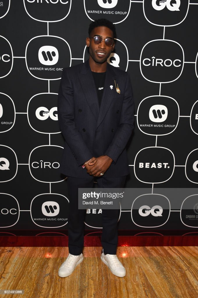 Tinie Tempah attends the Brits Awards 2018 After Party hosted by Warner Music Group, Ciroc and British GQ at Freemasons Hall on February 21, 2018 in London, England.
