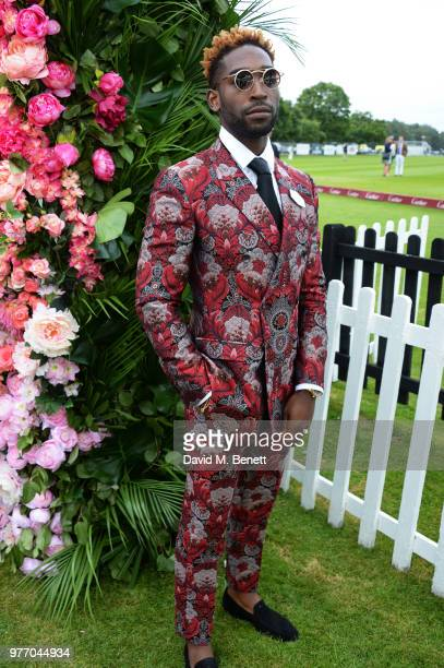 Tinie Tempah attends the Cartier Queen's Cup Polo Final at Guards Polo Club on June 17 2018 in Egham England