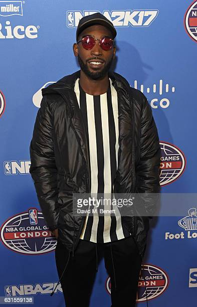 Tinie Tempah attends the Denver Nuggets v Indiana Pacers game during NBA Global Games London 2017 at The O2 Arena on January 12 2017 in London England