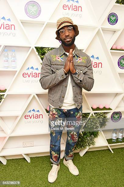 Tinie Tempah attends the evian Live Young suite during Wimbledon 2016 at the All England Tennis and Croquet Club on June 27, 2016 in London, England.