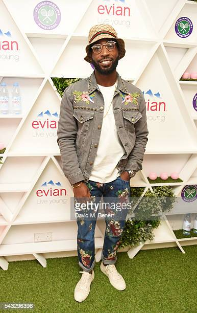 Tinie Tempah attends the evian Live Young suite during Wimbledon 2016 at the All England Tennis and Croquet Club on June 27 2016 in London England