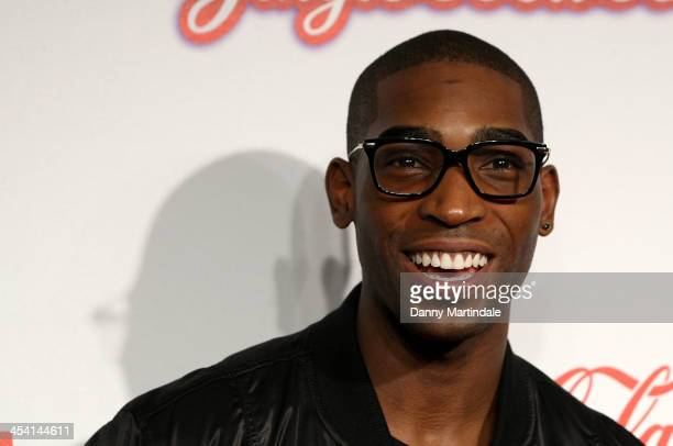 Tinie Tempah attends the first day of the Capital FM Jingle Bell Ball at 02 Arena on December 7 2013 in London England