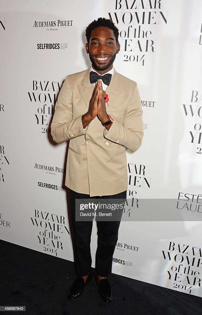 Tinie Tempah attends the Harper's Bazaar Women Of The Year awards 2014 at Claridge's Hotel on November 4, 2014 in London, England.
