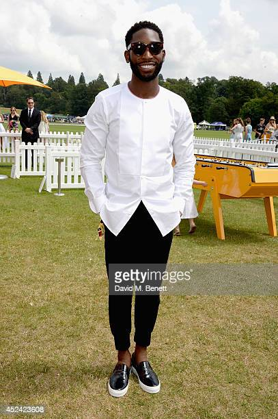 Tinie Tempah attends the Veuve Clicquot Gold Cup Final at Cowdray Park Polo Club on July 20 2014 in Midhurst England